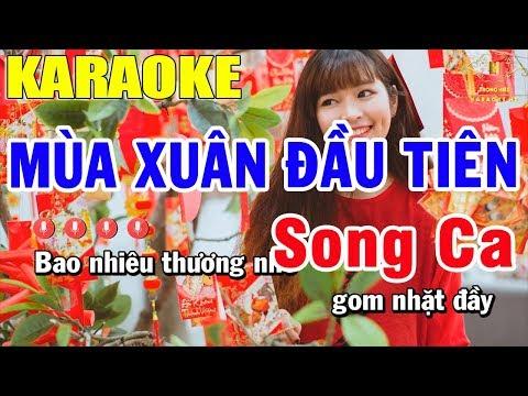 Karaoke Mùa Xuân Đầu Tiên Song Ca Nhạc Sống | Trọng Hiếu