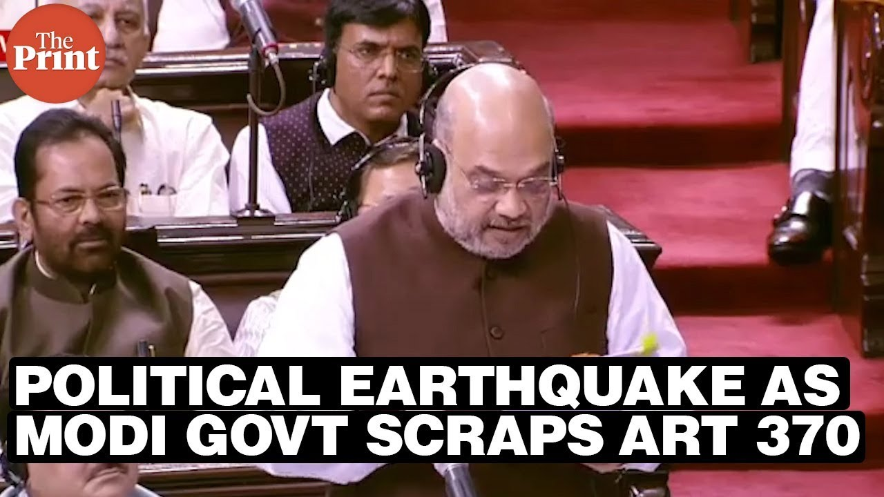Political earthquake as Modi govt scraps Act 370