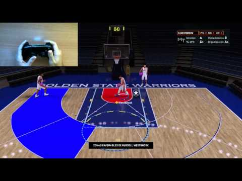 NBA 2K16 | TUTORIAL TIRO, STEP BACK, MOVIMIENTOS EN EL POSTE | ESPAÑOL (PS4)