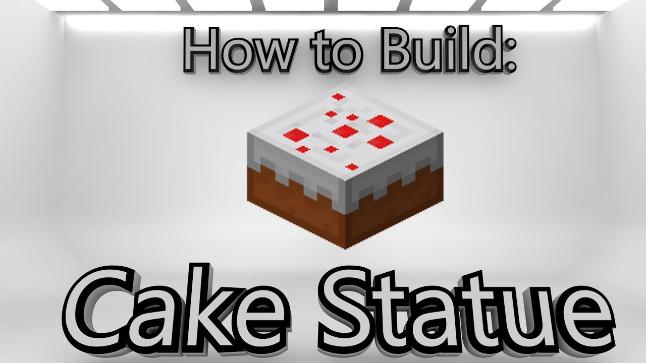 Minecraft How To Make A Cake Statue YouTube