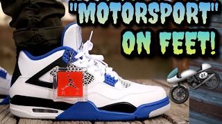 "WORTH THE HYPE!? ""Motorsport"" Air Jordan 4 ON FEET!"