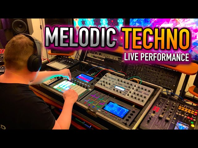 Akai Force & MPC Live & Access Virus -  Live Melodic Techno Trance Hardware Performance Mix Set Jam