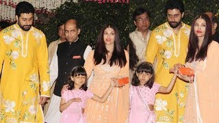 Video Aishwarya Rai Abhishek Bachchan and Daughter Aaradhya ATTEND Mukesh Ambani's Ganpati Celebration download MP3, 3GP, MP4, WEBM, AVI, FLV Januari 2018