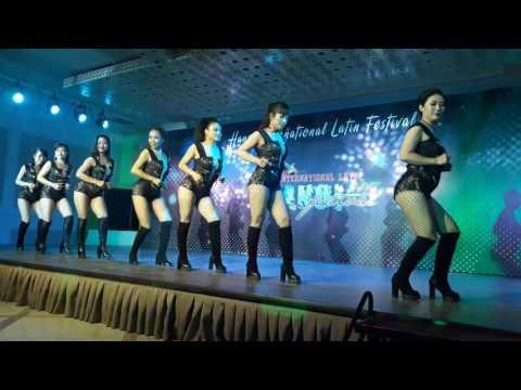 Hanoi Kizomba - Lady performance team at Hanoi International Latin Festival 2017
