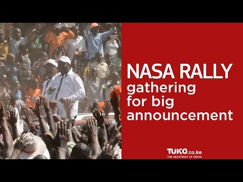 NASA party gather in Nairobi for big announcement