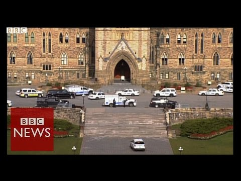 Canada parliament in lockdown after shots fired - BBC News