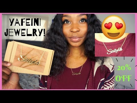 YAFEINI JEWELRY Customized Name Necklace! IS IT WORTH IT!?? | Unboxing & Review