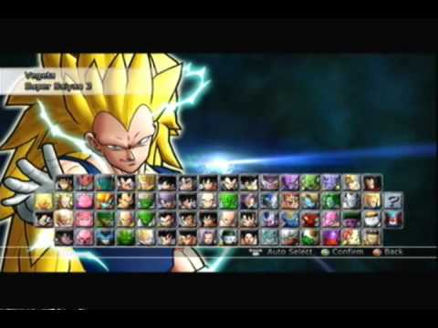 dragon ball raging blast 2 all characters transformations youtube