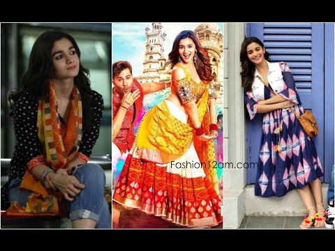 0ce15d6762a22a Alia Bhatt Looks   Outfits In Badrinath Ki Dulhania - YouTube
