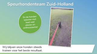 Speurhondenteam Zuid-Holland, the Netherlands