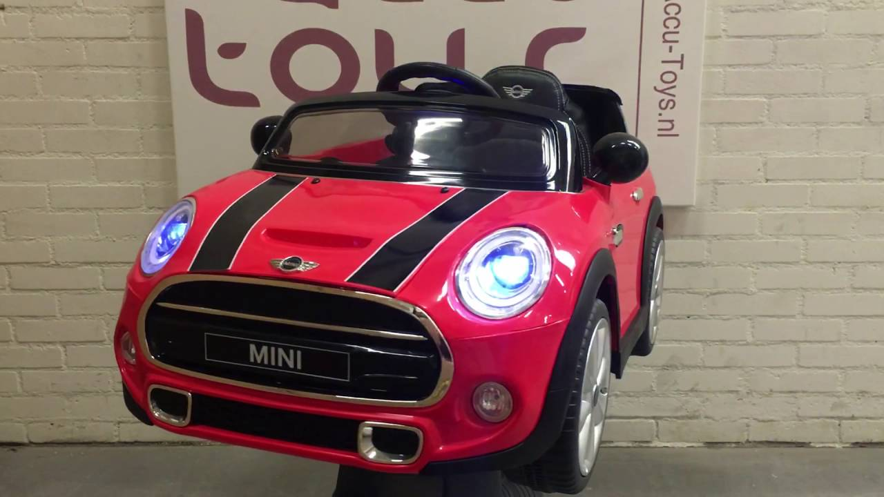 mini cooper elektrische kinder accu auto bij www accu youtube. Black Bedroom Furniture Sets. Home Design Ideas