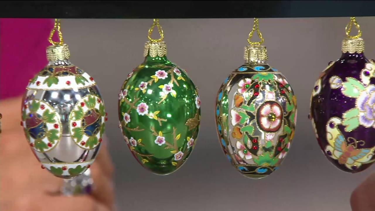 12 Mini Russian Inspired Egg Ornaments On Qvc