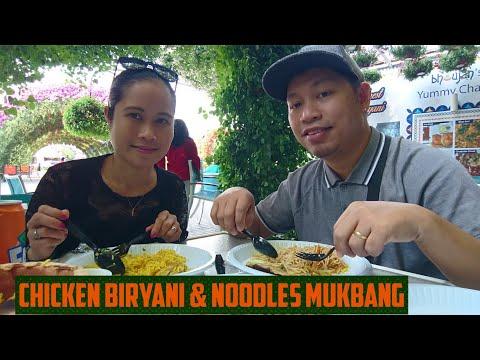 Chicken biryani & chicken noodles Mukbang sa  Dubai Miracle Garden     Woody Nasol vlog
