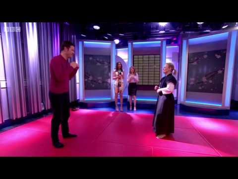 Mary Petty (Bishop) representing the Jitsu Foundation on The One Show (BBC)