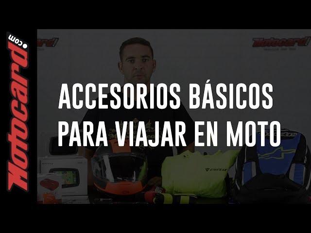 Viajar en moto: accesorios indispensables
