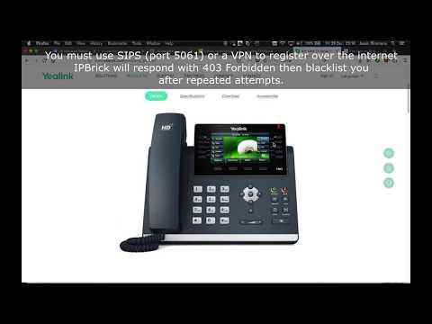 Secure SIP using Yealink phones - YouTube