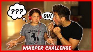 WHISPER CHALLENGE avec MA PETITE SOEUR