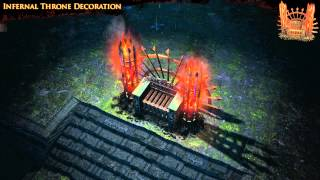 Path of Exile - Infernal Throne Hideout Decoration