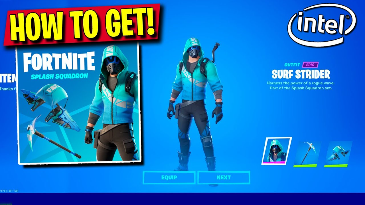 How To Get The Intel X Fortnite Bundle Now Splash Damage Exclusive Skins Youtube