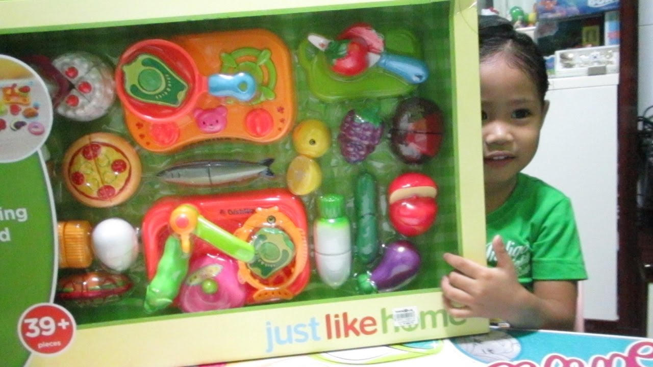 Just Like Home Toy Set : Cutting food set just like home by toys2play youtube