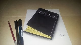 Drawing 3D Realistic Death note