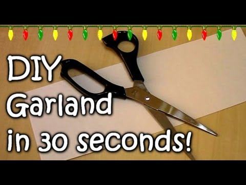 How to make a Garland in 30 seconds! - Homemade Easy Garland tutorial