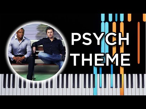 Psych Theme - Piano Tutorial