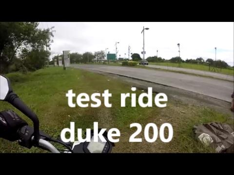 DUKE 200 KTM 2017 TEST RIDE PHILIPPINES