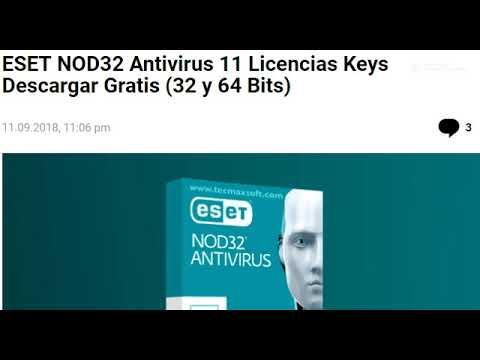 claves de licencia para eset nod32 antivirus 11