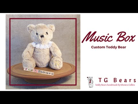 A custom teddy bear with an inserted music box