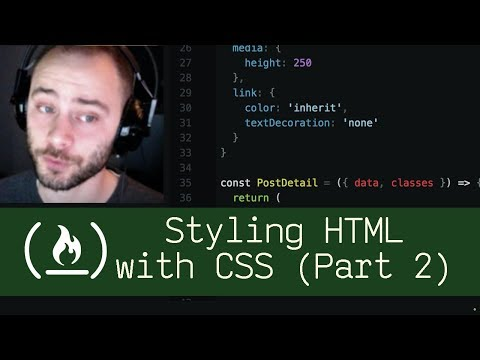 Styling HTML With CSS Part 2 (P5D15) - Live Coding With Jesse