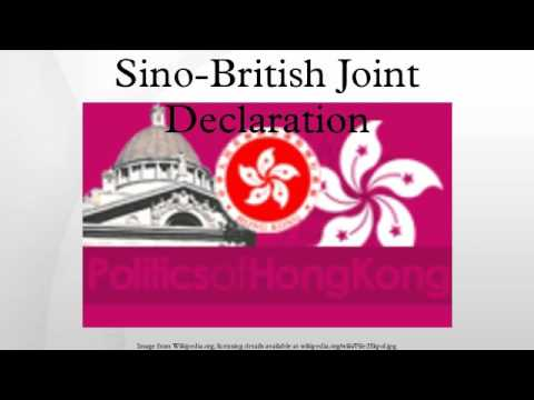 Sino-British Joint Declaration