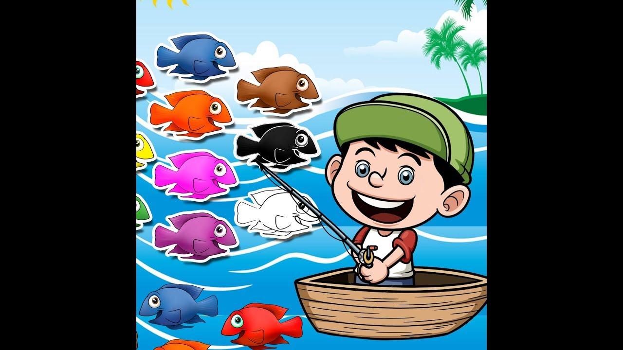 Learning Color Fish With Fisherman تعليم الالوان بالانجليزية مع صياد السمك Youtube