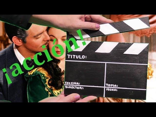 Cómo hacer una claqueta de cine casera con cartón. Ideas Día del padre