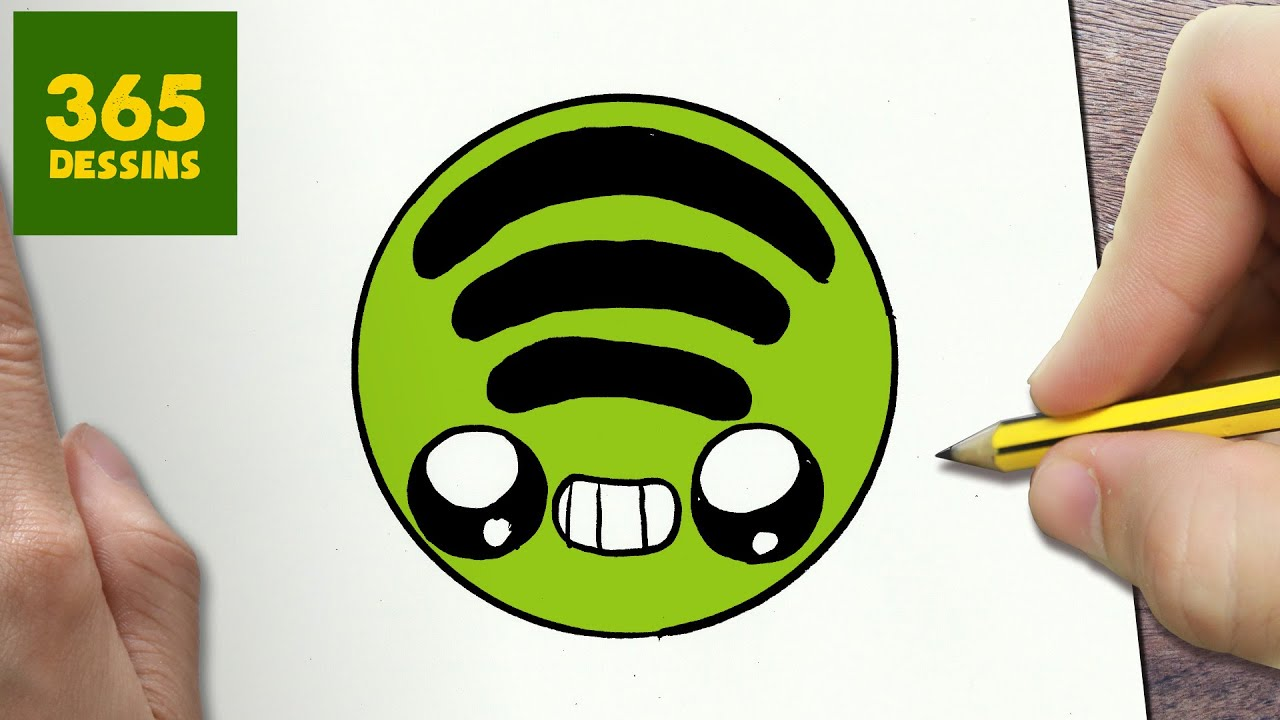 Comment Dessiner Logo Spotify Kawaii étape Par étape Dessins Kawaii Facile