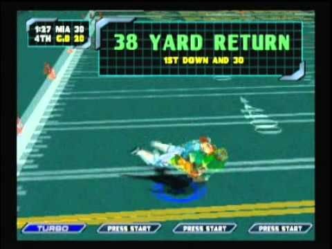 NFL Blitz 2000 - Dolphins vs Packers (2nd Half)