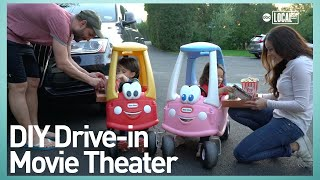 How To Make A Drive-thru Movie Theater #AtHome | Jess Make It