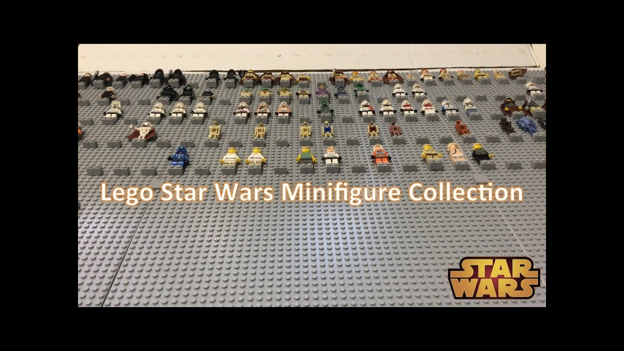 complete lego star wars minifigure collection  update 1