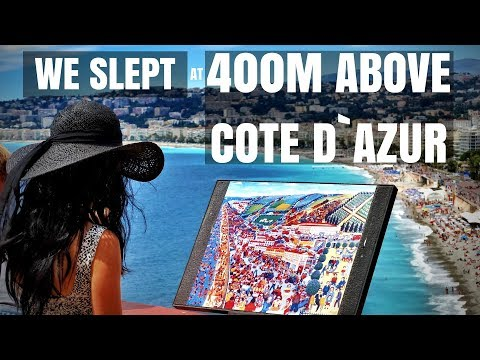 Am dormit la 400m DEASUPRA Coastei de Azur!