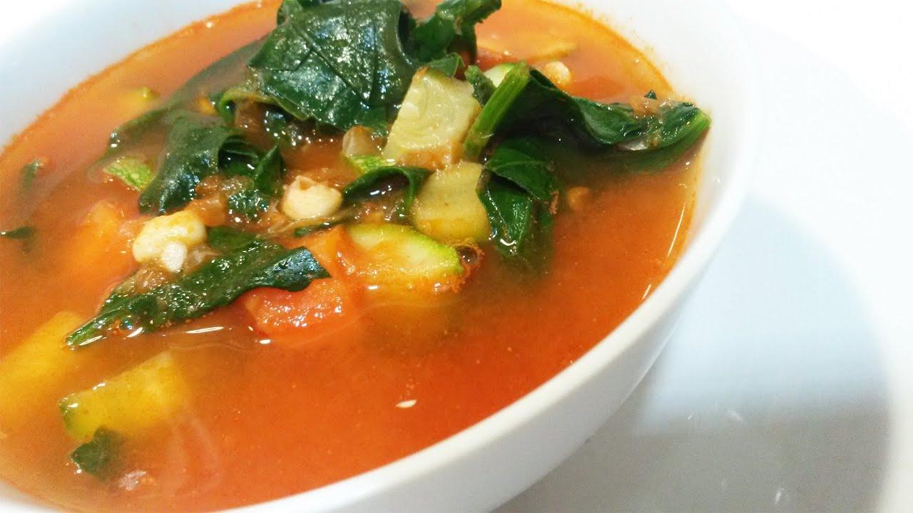 Cocinar sopa de verduras picante f cil y sencillo youtube for Cocinar berenjenas facil