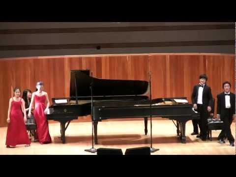 Piano 8 hands: Danse macabre. Aspen Music festival 2011