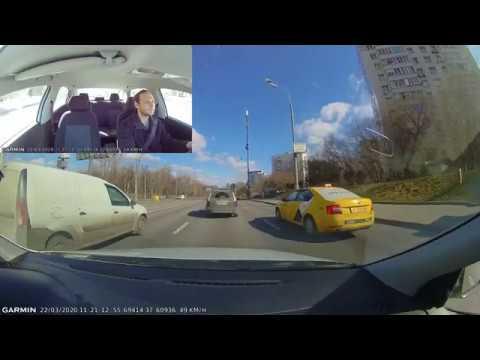 Garmin Dash Cam Tandem — пример смонтированного видеоролика, вид на дорогу