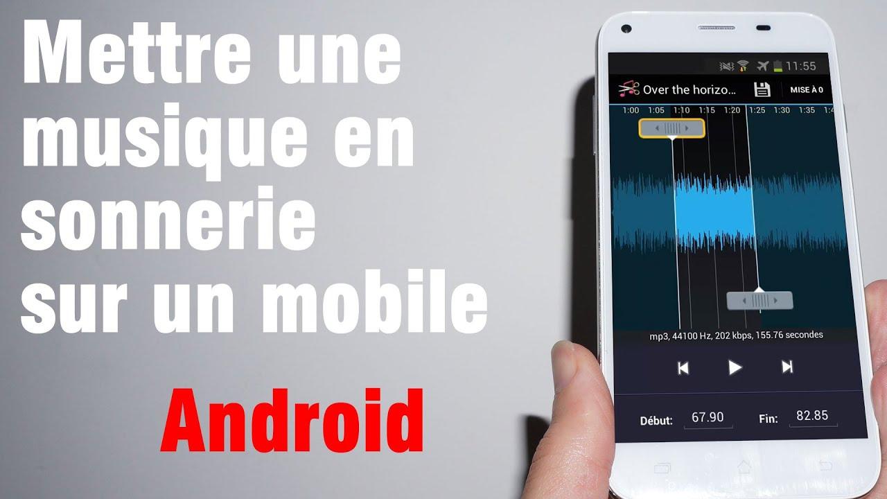 tuto  comment mettre une musique en sonnerie sur un mobile