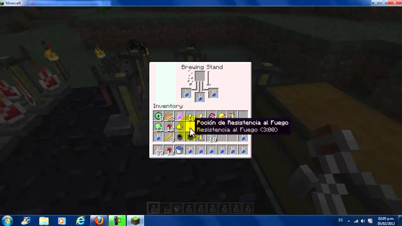 Minecraft como hacer Pociones (Basicas). - YouTube