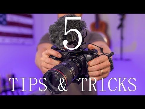 5 TIPS & TRICKS for the Pocket Cinema Camera 4K/6K!