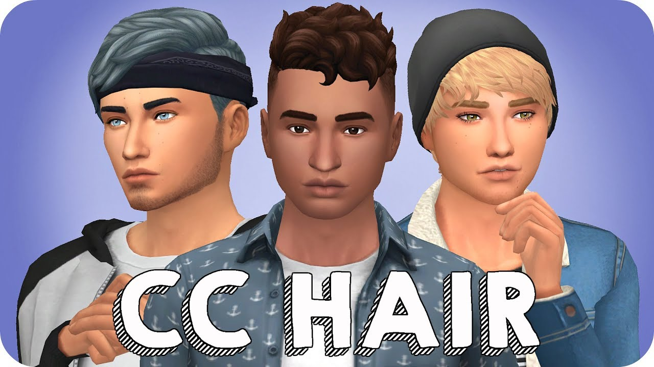 MY MAXIS MATCH HAIR COLLECTION FOR GUYS Sims 4 Custom Content Showcase LINKS