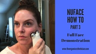 NuFace How To Part 3 - Full Face Demonstration