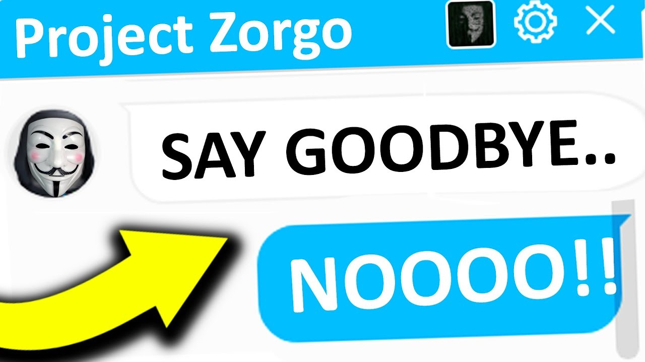 Project Zorgo Is About To Hack Roblox Help Youtube