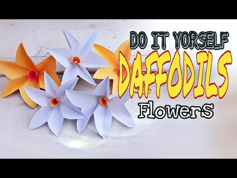 Easy and simple paper flowers/DIY paper crafts