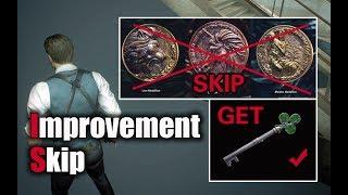 Resident Evil 2 Remake - Club Key + Skip 3 Medallions (Leon A Speedrun Skip)
